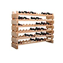 HOMCOM Wood Wine Rack 72 Bottles Holder 6 Tier Shelves Storage Stand