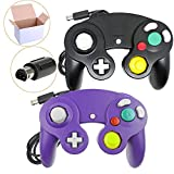 kirby adventure wii - Poulep NGC Wired Controller for Wii Gamecube (Black + Purple)