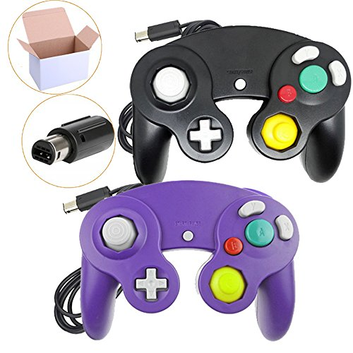 Wii Accessories Free Shipping (Poulep NGC Wired Controller for Wii Gamecube (Black + Purple))