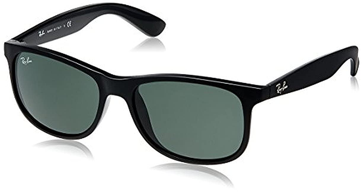 ecf4ac7d41 Amazon.com  Ray-Ban Andy RB4202 Sunglasses Matte Black Dark Green 55mm    Cleaning Kit Bundle  Shoes