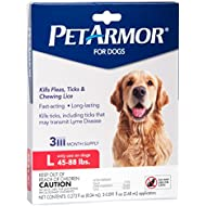 PetArmor Flea & Tick Treatment for Dogs, 45-88 lbs, 3 Month Supply