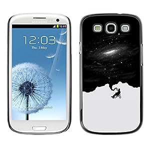 Caucho caso de Shell duro de la cubierta de accesorios de protección BY RAYDREAMMM - Samsung Galaxy S3 - Pensamientos Deep Space