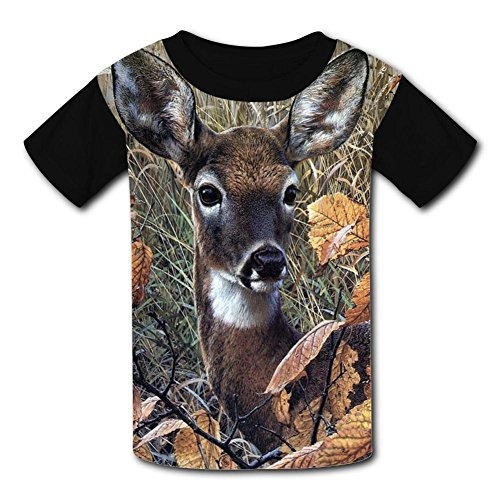 JRNFDKE Cut Deer Children's T-Shirts Short Sleeve Raglan Tee Shirt for Kids Boys Girls -