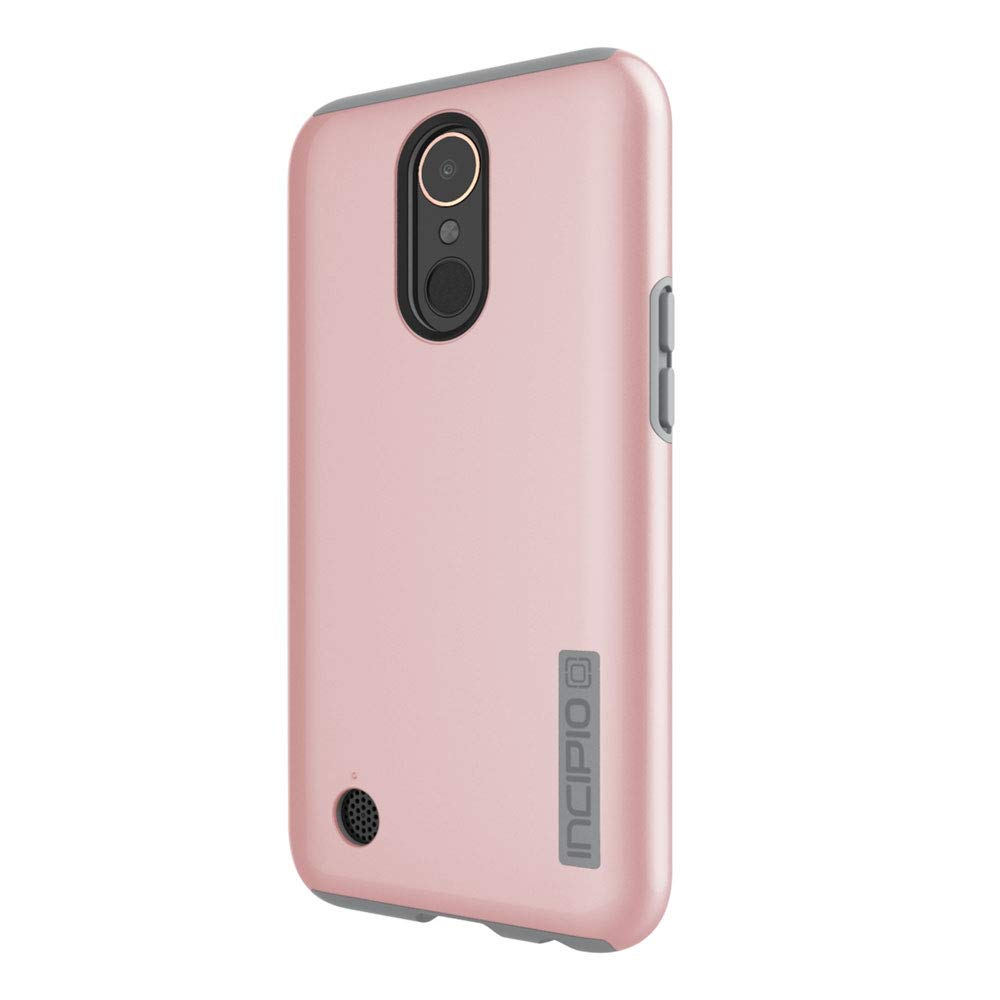 Incipio LG K20/K20V/K20 Plus/Harmony/Grace LTE Dualpro Case - Iridescent Rose Gold and Gray