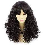 Wiwigs ® Lovely Summer Style Medium Curly Black Brown Skin Top Ladies Wig