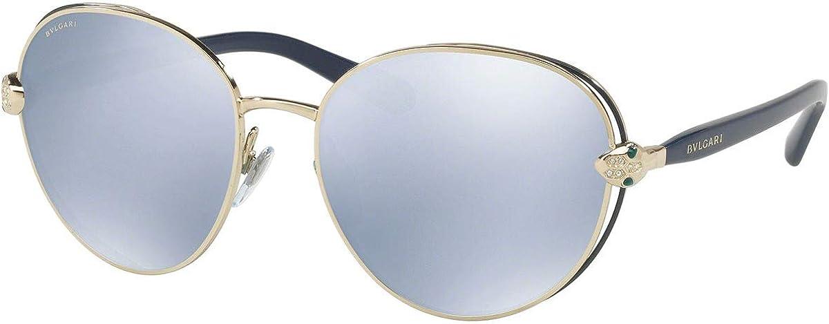 Bulgari BV6087B gafas de sol w/espejo azul blanco Lente de 57mm 20206J BV 6087B BV6087B BV 6087B mujer Azul pálido Oro Grande: Amazon.es: Ropa y accesorios