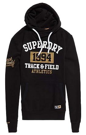 Superdry Herren Pullover 1994 Metallic Hood, Schwarz (Black 02a), Small cf36f52c45
