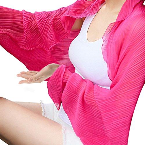 Plus Nao(プラスナオ) 4WAY カーディガン ボレロ 長袖 ストール 羽織り 薄手 レディース ふんわり シフォン 春 日焼け防止 日焼け予防 紫外