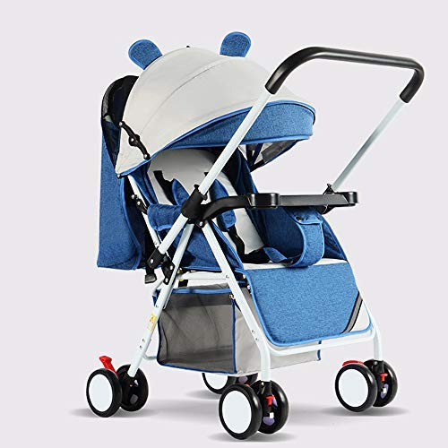 Baby Reversible Folding Pushchair, Compact Travel System, Lightweight Buggy Stroller with Adjustable Backrest (F)