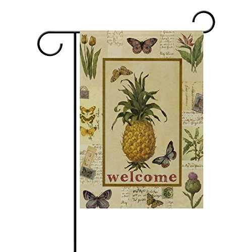 ALAZA Home Yard Decor Outdoor Double Sided Vintage Yellow Pi