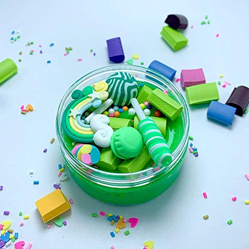 Slime charms Rainbow Lollipop Charms Clear Slime Soft Clay Plasticine Toys Colorful Slime Kids Fluffy Slime Educational Toy 1