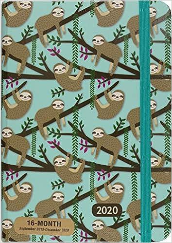 2020 Sloths Weekly Planner 16-Month Engagement Calendar