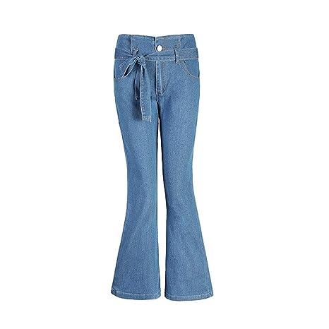 Coeffort Pantalones Vaqueros Largos para Mujer Moda ...