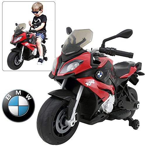 Licensed 12V Ride on Motorcycle for kids BMW S1000 XR - Red (Red Spray Ferrari)