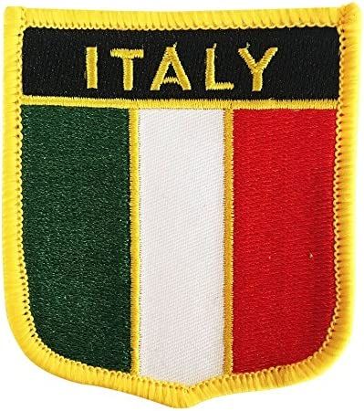 Italy National Flag Iron on Patches Embroidered Applique Badge Emblem