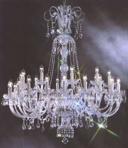 Large foyer entryway crystal chandelier murano venetian style large foyer entryway crystal chandelier murano venetian style chandeliers lighting 30 lights w50quot aloadofball Image collections