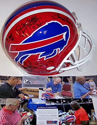 Smith Signed Bruce Bills (Andre Reed, Thurman Thomas, Jim Kelly, Bruce Smith & Marv Levy Hand Signed Buffalo Bills Throwback Authentic Helmet - BAS)