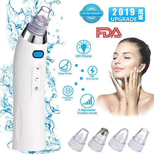 Blackhead Remover Blackhead Vacuum Rechargeable Pore Vacuum Microdermabrasion Blackhead Remover Vacuum Blackhead Vacuum Suction Remover for Comedone Acne Suction Tool for Facial Skin Treatment