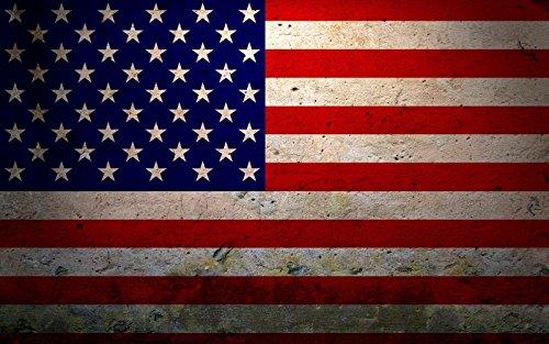 Grunge Overlays - Vinyl Overlays 720 American Grunge Flag Decal United States USA United States US Sticker Car Bumper Window (RH) VAR