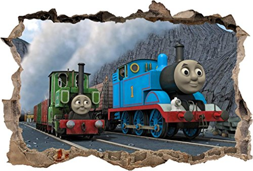 THOMAS THE TANK & FRIENDS Smashed Wall Decal Graphic Wall Sticker Decor Art H317, Large
