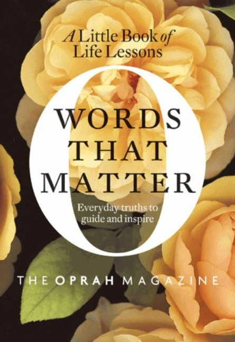 Words That Matter: A Little Book of Life Lessons cover