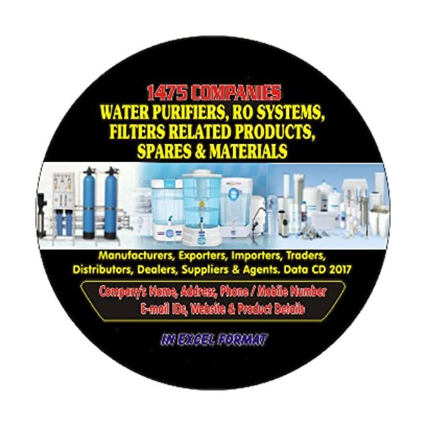 Water Purifier, RO System, Filter Related Products, Spares & Materials Companies Data