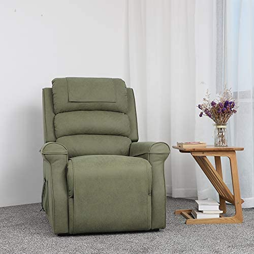 Five Stars Furniture Power Lift Recliner Chair Electric Sofa Microfiber Fabric Living Room Bedroom Chair