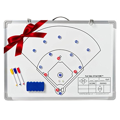 Baseball Situations Coaches Board - Don't Just Tell Them, Show Them. Play Smarter This Season. Best Magnetic Dry Erase Softball Training Tool Aids In Teaching Defensive Lineup Skills & Drills (Baseball Coach Whistle compare prices)
