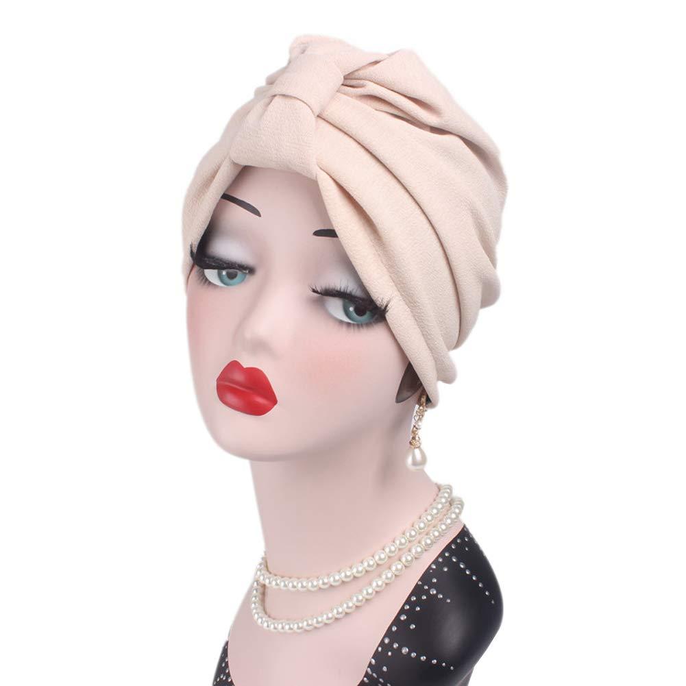 Amorar Femmes Perte De Cheveux Be Air Stretch Coton Bow Turban Bandeau  Écharpe Tête Wrap Hiver 207c5c5928c