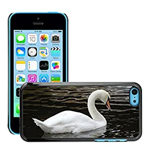 Cas Coq Case Cover // M00147486 Pájaro Cisne Blanco Grande Amor // Apple iPhone 5C