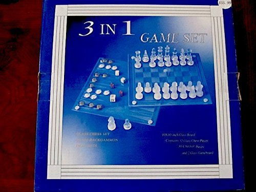 Glass 3 in 1 Game Set -