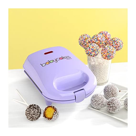 Babycakes Mini Cake Pop Maker 2 Non-Stick Baking Plates Make 9 Cake Pops Power Light