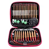 13pcs Aluminum Needles Sewing Needle Kit Interchangeable Carbonized Bamboo Needles Set Aluminum Circular