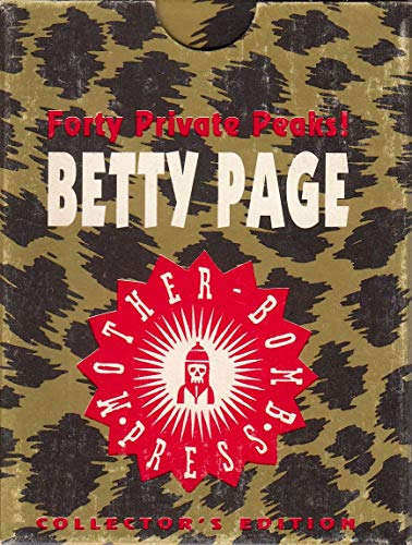 (BETTIE PAGE FORTY PRIVATE PEAKS 1990'S MOTHER BOMB PRESS FACTORY CARD SET OF 40)