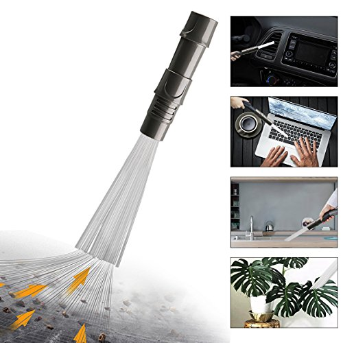 Dust Cleaner Vacuum Attachment,Universal Dust Brush-Dirt Remover for Air Vents/Keyboards/Drawers/car/Tools/Crafts/Jew(Gray)