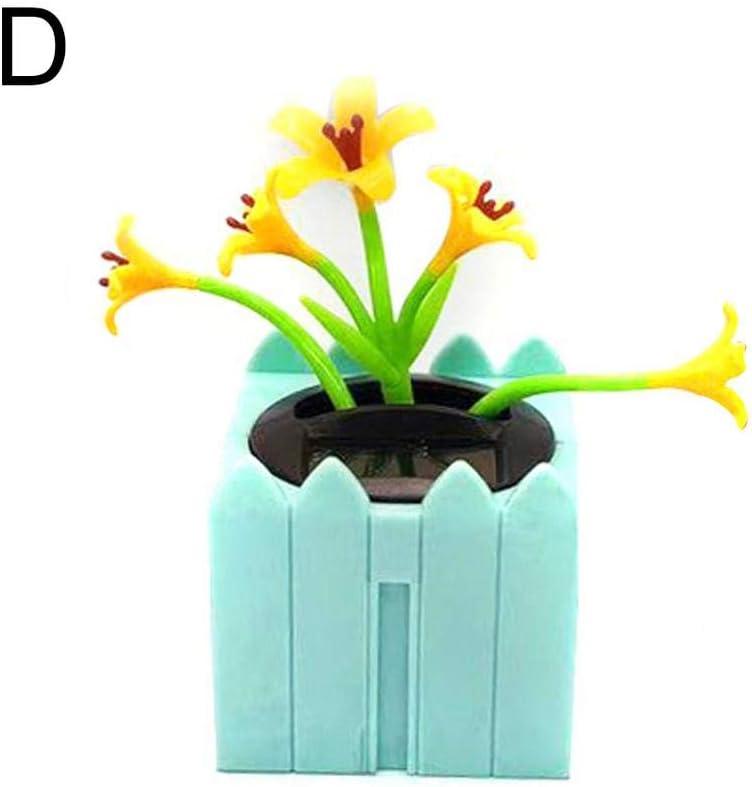 Solarbetriebene Tanzende Blume Die Lebhaftes Bobble-T/änzer-Spielzeug Schwingt Blume Mit Solar Wackelfunktion Auto Dekor F/ür Auto Armaturenbrett B/üro Schreibtisch 1x Solar Wackelfigur Blume