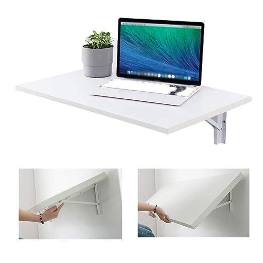 Mesa blanca montada en la pared, mesa plegable plegable de banco ...