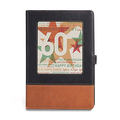 Soft Cover Notebook,60th Birthday Decorations,A5(6.1