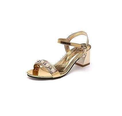 6f4045b2e8e Amazon.com  GHFJDO Women Open Toe Low Heels