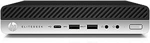 2019 New HP ELiteDesk 800 Business Ultra Small Mini Desktop: Intel Quad-core i5-7500, 8GB RAM, 256GB SSD + 1TB HDD,Wif, Bluetooth, USB-C, VGA, DisplayPort,USB Keyboard and Mouse, Windows 10 pro-2.87LB
