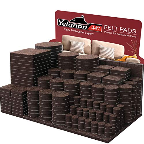 Yelanon Furniture Pads 12pcs 4'' Non Slip Furniture Pads Chair Leg Floor P