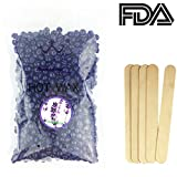 Hard Wax Beans for Hair Removal,LuolLove Full-Body Depilatory Wax Beads Natural for Women Men Lavender
