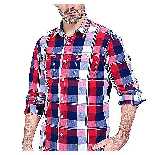 Red and Blue Plaid Shirt: Amazon.com