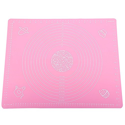 Silicone Dough Kneading Mat With Scale Pink - 1
