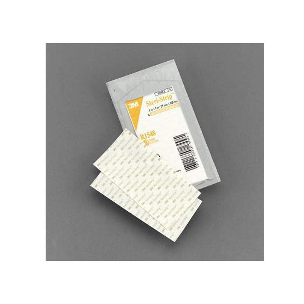 3M Skin Closure Strip Steri-Strip1 X 5'' Nonwoven Material Reinforced Strip White (#R1548, Sold Per Box)