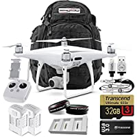 DJI Phantom 4 Pro Bundle Upgrade Kit w/ 5.11 Rush 72 Military Grade Black Backpack Travel Pack, Lens Filters, 1 Extra Battery (2 Total) Triple Battery Charging Hub, 32 GB and More