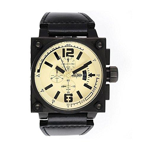Coffret reloj Welder hombre K-23 modelo Cronógrafo Negro y Beige - 1708/K23 CB be-bk: Amazon.es: Relojes
