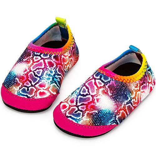 Apolter Baby Boys and Girls Swim Water Shoes Barefoot Aqua Socks Non-Slip for Beach Pool]()