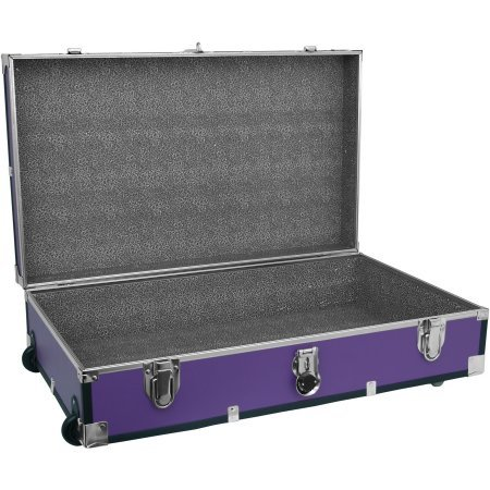 Mercury Luggage Seward Under the Bed Wheeled Storage Footlocker, 31'' in Purple by Mercury Luggage