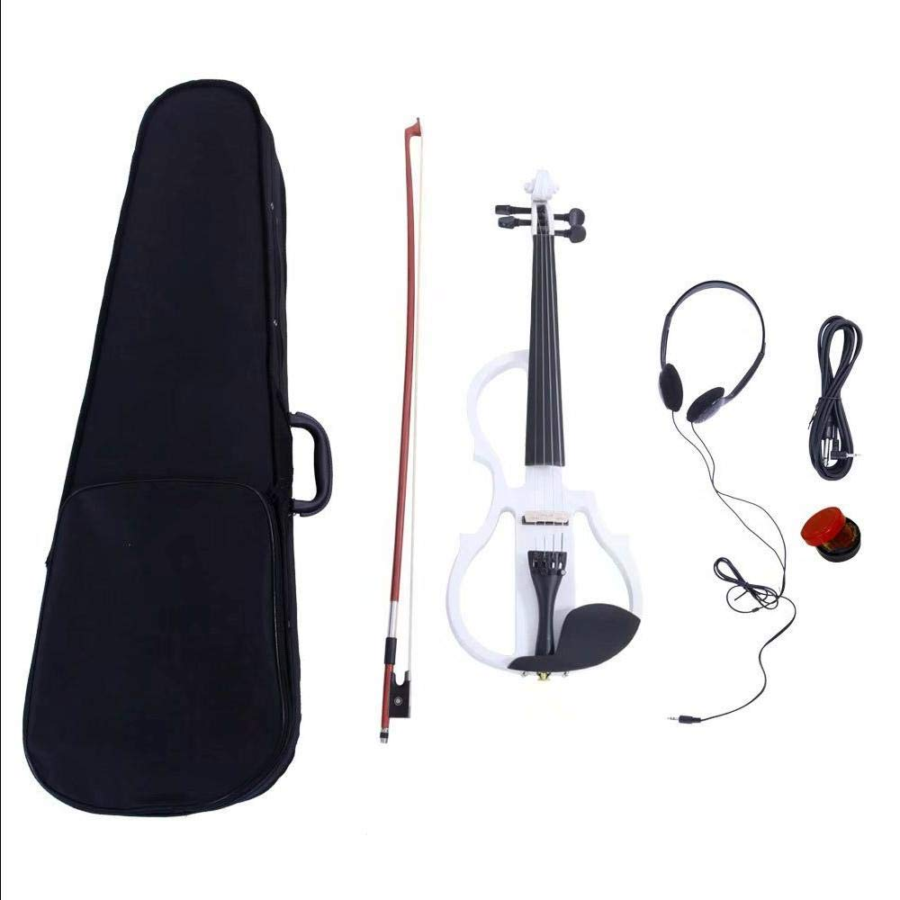 4/4 Electric Silent Violin Case Bow Rosin Headphone Connecting Line V-0 by Aromzen (Image #1)